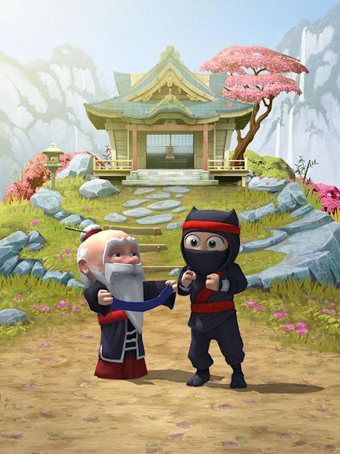 Clumsy Ninja – герой с большими глазами