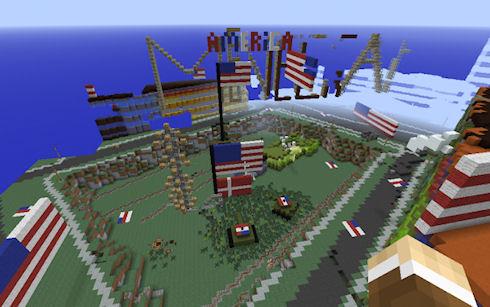 Дания в Minecraft была разрушена «американцами»
