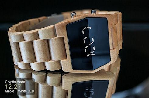TokyoFlash Kisai Xtal – модные деревянные ходики