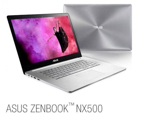 Zenbook NX500 – мощный ультрабук с фирменной аудиосистемой