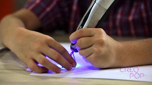 CreoPop 3D Pen – холодная объемная печать под ультрафиолетом