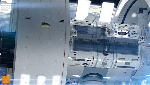 Создан макет межзвездного корабля «Enterprise»