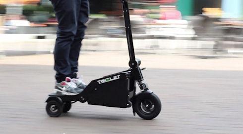 Электроскутер-чемодан создан в Голландии