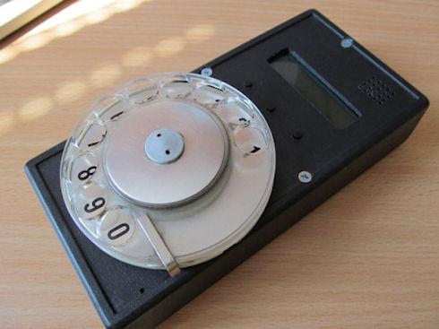 Ретро-мобильник с дисковым номеронабирателем