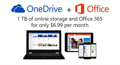 Microsoft снижает цены на One Drive