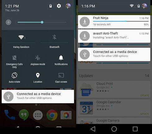 Android L – новый дизайн и масса «фенечек»