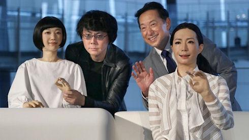 Человекоподобные роботы стали экспонатами музея Мираикан