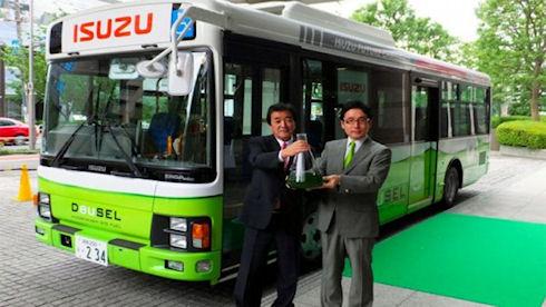 В Японии появился первый автобус на биотопливе из водорослей