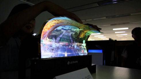 LG продемонстрировала сверхгибкий дисплей нового поколения