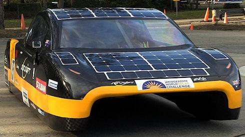 В Австралии разработали автомобиль-рекордсмен на солнечных батареях