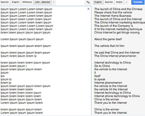 Ошибка в Google Translate понравилась поклонникам теории заговора