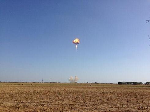 Ракета-носитель Falcon 9R взорвалась во время тестового полета