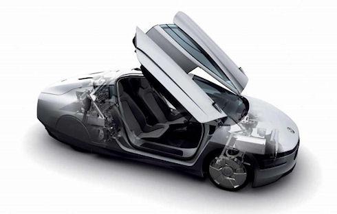 Volkswagen XL1 – «фантастический» немецкий гибрид