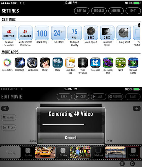 Снимаем видео в формате 4K на iPhone 5s за 1 тыс. долларов