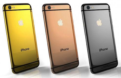 Goldgenie украсила iPhone 6 золотом и платиной