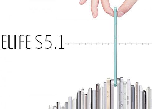 Gionee Elife S5.1 – самый тонкий смартфон из книги рекордов Гиннесса