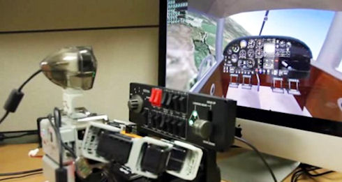 PIBOT – робот-пилот с повадками человека
