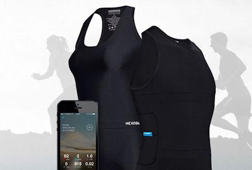 Hexoskin – биометрическая майка для активных людей