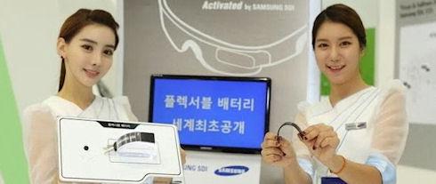Презентация гибкой батареи для носимой электроники от Samsung
