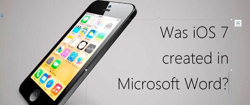 Дизайн iOS 7 в MS Word