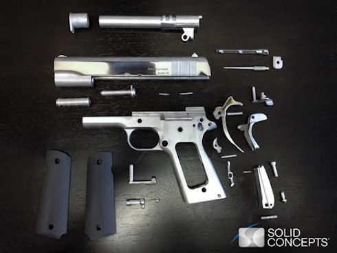 Создан 3D-пистолет из металла с запасом прочности на 50 выстрелов