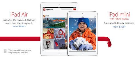 iPad mini с дисплеями Retina поступили в продажу