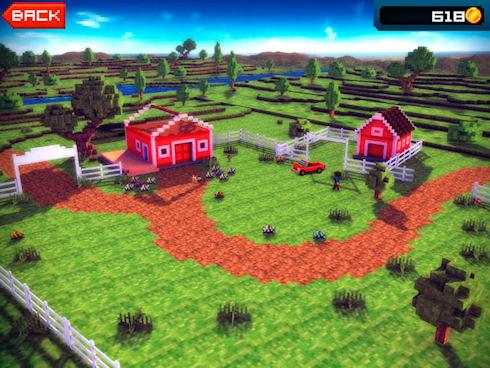 Blocky Roads – пиксельные гонки с элементами конструктора