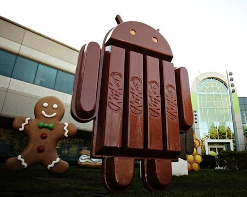 Распространение Android 4.4 Kit Kat превысило 1%