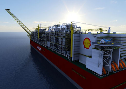 Shell строит Prelude 488-метровую плавучую фабрику по добыче газа