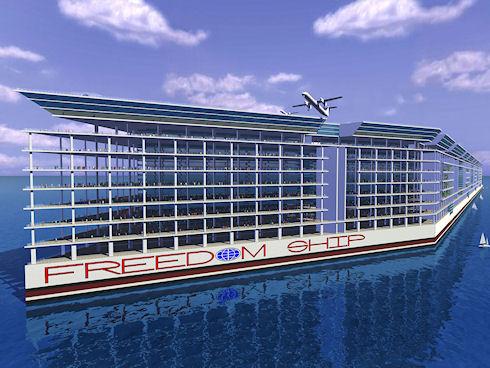 Freedom Ship – плавучий город за 10 млрд долларов