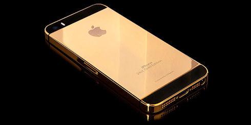 Золотые и платиновые iPhone 5s от Goldgenie