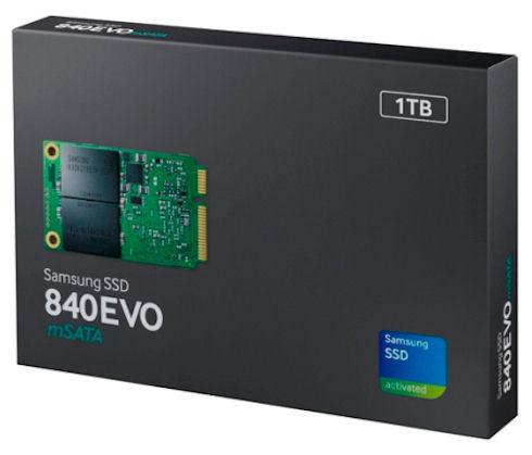 Samsung представила 1-терабайтный SSD-накопитель mSATA