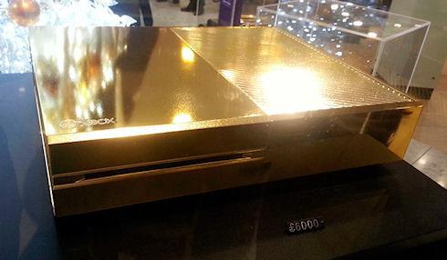 «Золотая» консоль Xbox One продается в Лондоне за 10 тыс. долларов