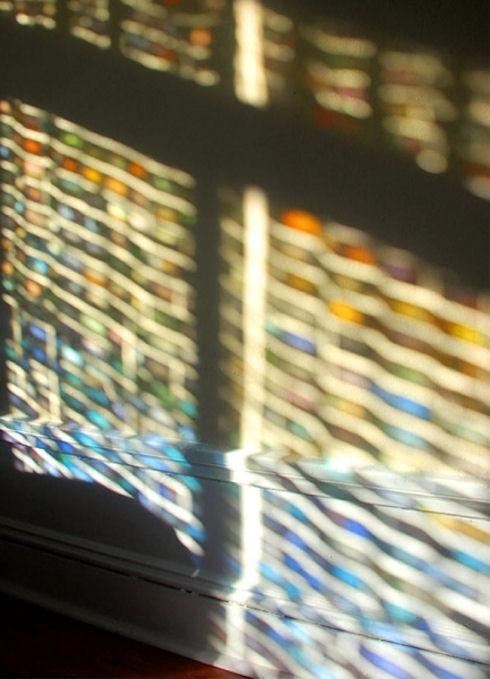 Цветная занавесь из фото-слайдов