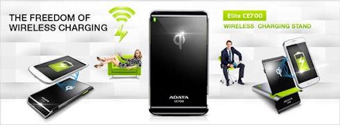 ADATA CE700 – беспроводное автоматическое зарядное устройство