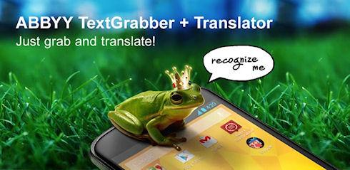 ABBYY TextGrabber + Translator – распознавание и перевод текста для Android-устройств