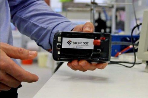 Аккумуляторы от StoreDot смогут заряжаться в течение 30 секунд