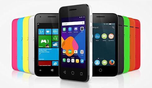 Alcatel представит смартфон с поддержкой 3-х операционных систем