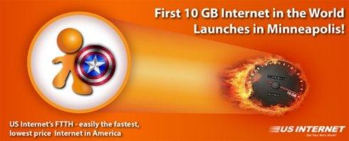Американцы запустили первый 10-Гигабитный пользовательский интернет