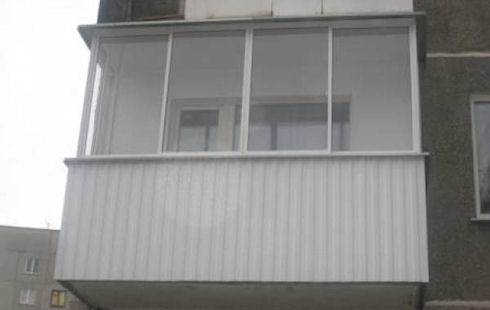 Балкон из алюминия