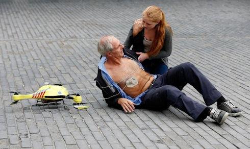 Голландский студент презентовал беспилотник-реаниматор