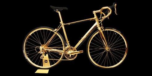 Британцы представили золотой велосипед (ФОТО)