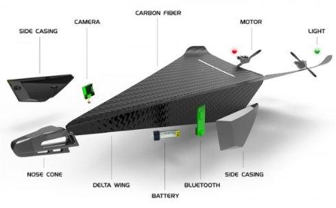 Разработан «бессмертный» дрон Carbon Flyer