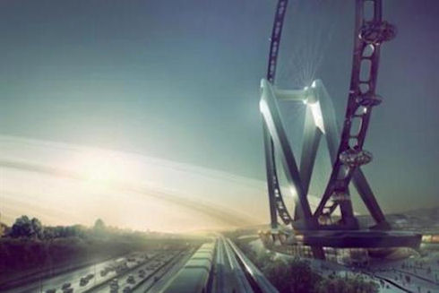 Японцы построят «чертово колесо» высотой в 100 этажный дом