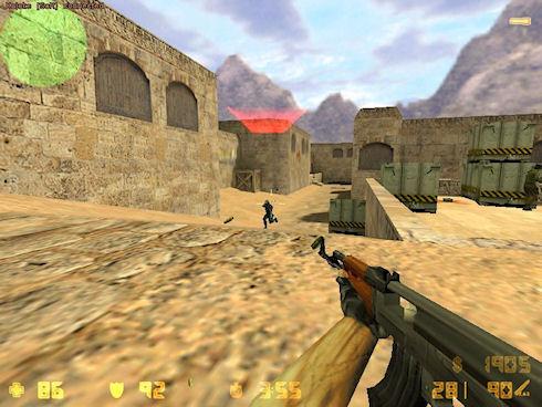 Особенности оружия, используемого игроками Counter Strike 1.6