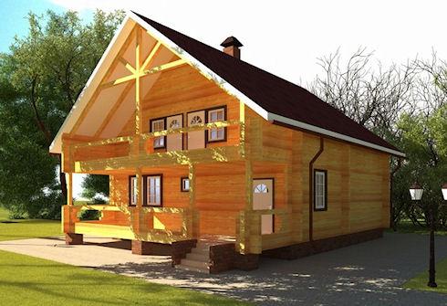 Очевидные преимущества домов из профилированного бруса