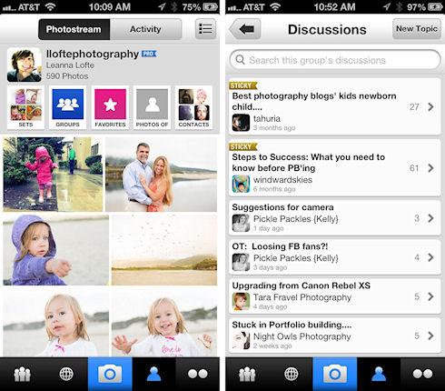 В App Store появилась обновленная программа Flickr для айфонов