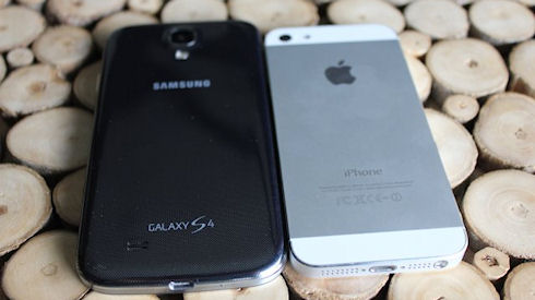 Samsung Galaxy S4 и iPhone 5S, 1,5 к 1