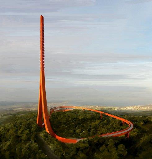 Голландцы представили проект телевизионной башни в виде ленты