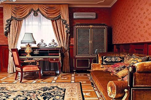 Гостиная комната в английском стиле